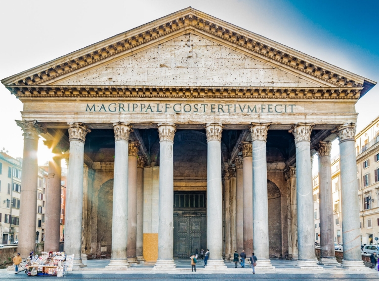 The Pantheon at first sunlight | Ancient History Tour