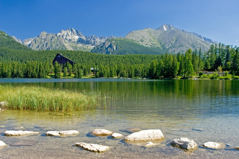 Lake Strbske and mountains, Slovakia