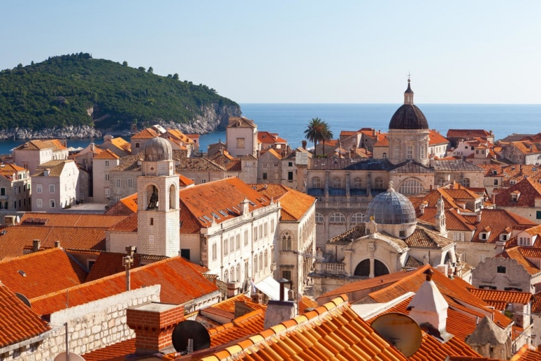 Old town roofs in Dubrovnik croatia