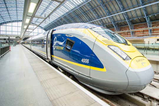 The Eurostar high-speed train