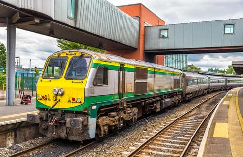 Intercity train at Belfast Central railway station - Northern Ireland