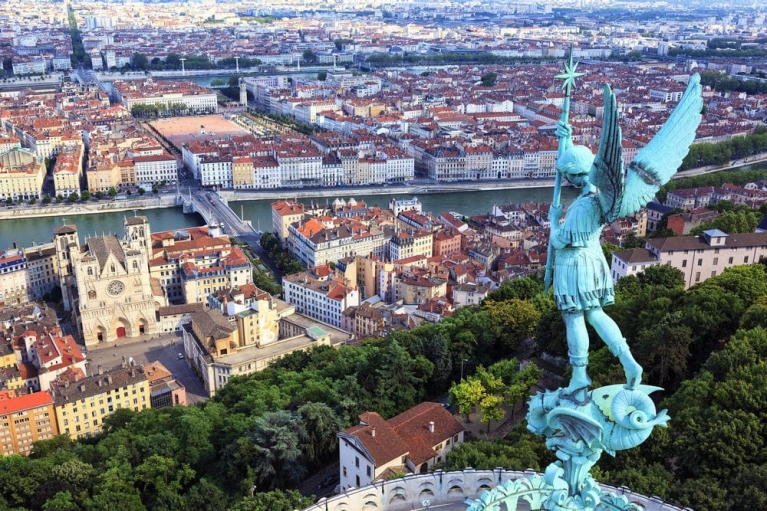 Scenic view of Lyon