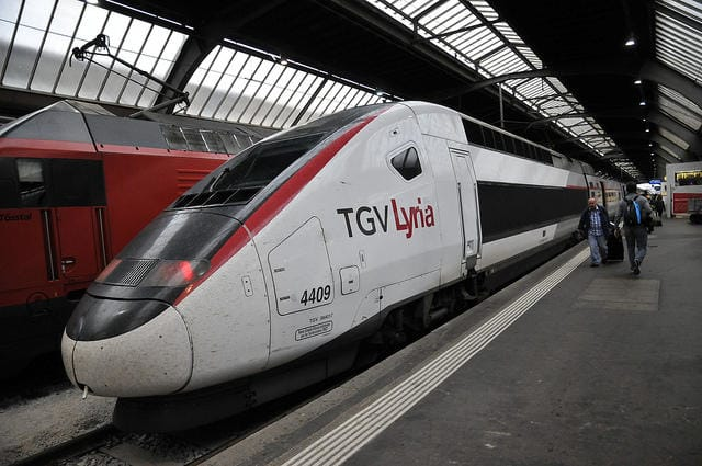 TGV Lyria high-speed rain