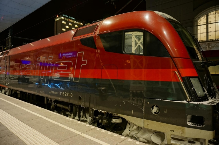 Railjet high-speed train