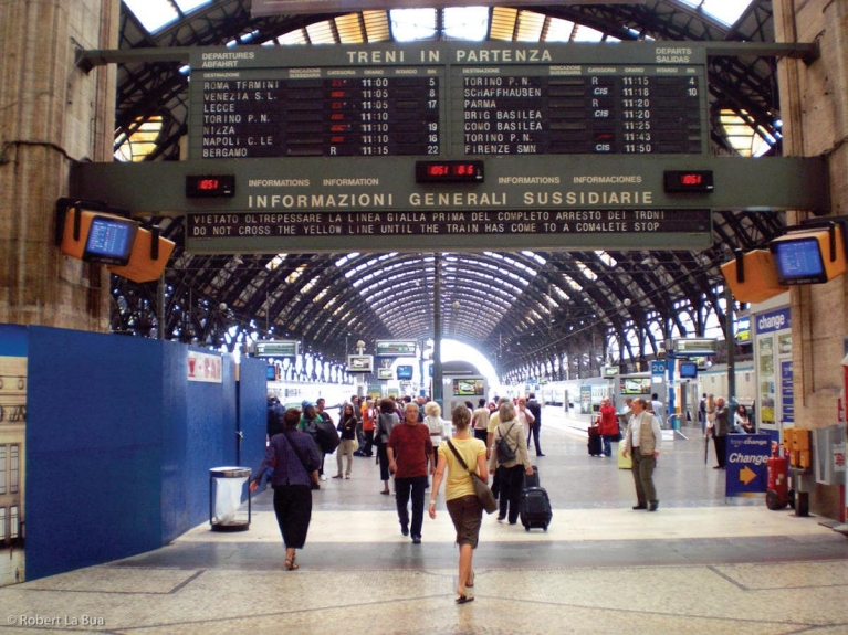 Train station of Milan, Italy