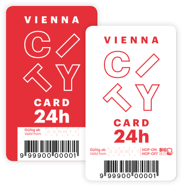 Vienna City Card rouge/blanche