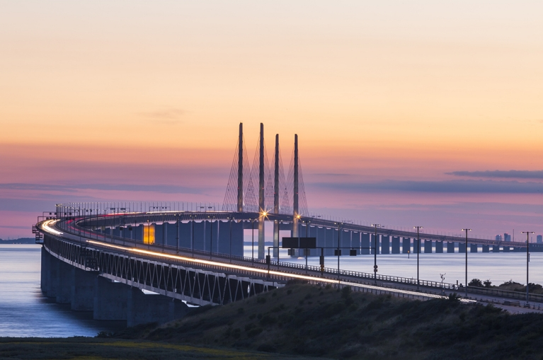 Malmo crossing bridge